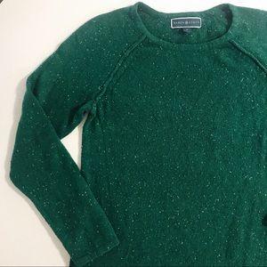 Karen Scott Green Marled Sweater